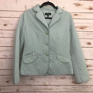 Talbots Blue Quilted Lightweight Jacket